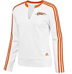 adidas JR Nation Womens V-Neck Fleece Top
