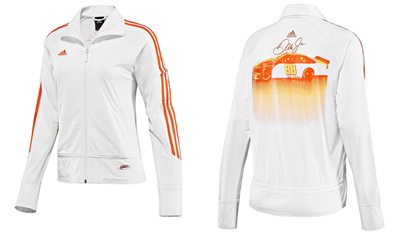 adidas JR Nation Womens White Track Jacket
