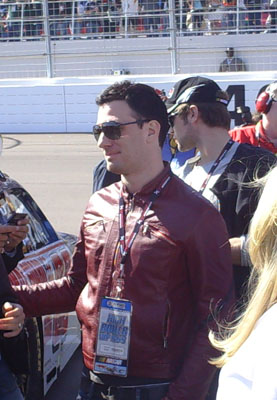JC Chasez at Las Vegas Motor Speedway (Photo Credit: The Fast and the Fabulous/Valli Hilaire)