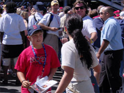 Maybe you can get an autograph from Danica like this kid! (Photo Credit: The Fast and the Fabulous