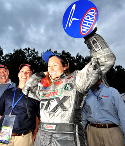 Ashley Force won her first Funny Car title at the Summit Racing Equipment NHRA Southern Nationals, in Atlanta (photo courtesy of NHRA)