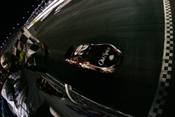 Tony Stewart takes his fourth checkered flag of the season in the NASCAR Nationwide Series, winning the Diamond Hill Plywood 200 at Darlington Raceway (Photo Credit: Chris Trotman/Getty Images)