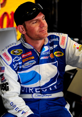 Clint Bowyer waits to get in his car during NASCAR Sprint Cup Series testing at Pocono Raceway. (Photo Credit: Rusty Jarrett/Getty Images for NASCAR)