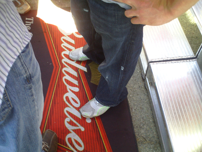 Kasey Kahne's jeans and shoes (photo credit: The Fast and the Fabulous)