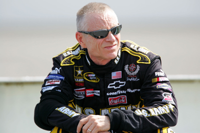 Mark Martin qualified third-fastest for Sunday's NASCAR Sprint Cup Series race at Pocono Raceway, where he's finished second six times. (Photo Credit: Chris Trotman/Getty Images for NASCAR)