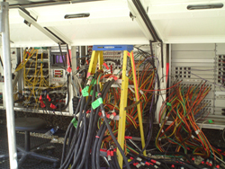 These go where? ESPN production trailer shows off it's insides