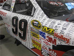 No. 99 Office Depot paint scheme for the LifeLock.com 400 at Chicagoland Speedway (courtesy of Office Depot)