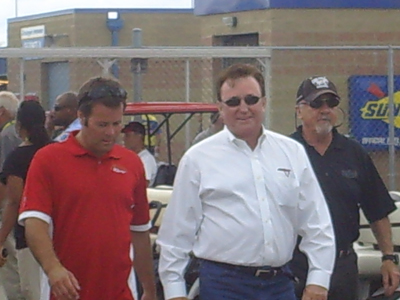 Robby Gordon and Richard Childress (photo credit: The Fast and the Fabulous