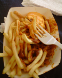 Infineon Raceway Chili Cheese Fries