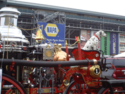 Dalmation on a fire truck at Infineon Raceway