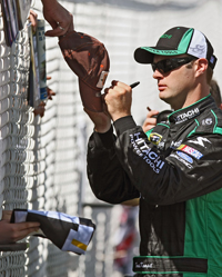 Travis Kvapil at Pocono earlier this year (photo credit: Getty Images for NASCAR)