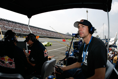 Travis Pastrana in Pocono, June '08, (c) David Vaughn (Courtesy of Red Bull Racing Team)