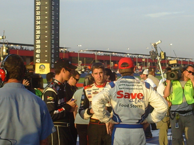 David Ragan, Joey Logano and Carl Edwards