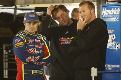 Casey Mears, driver of the No. 5 Pop-Tarts/CARQUEST Chevrolet, started 23rd and finished sixth during Sunday's 500-mile event at Martinsville (Va.) Speedway. (Courtesy Hendrick Motorsports)