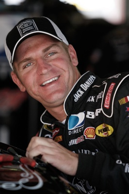 Clint Bowyer gets in his No. 07 Jack Daniel's Chevrolet during NASCAR Sprint Cup Series practice for the AMP Energy 500 on Friday at Talladega Superspeedway in Talladega, Ala. (Photo Credit: John Harrelson/Getty Images for NASCAR)
