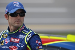 Casey Mears, driver of the No. 5 Pop-Tarts/CARQUEST Chevrolet, started from the outside pole position during Sunday's race at Talladega (Ala.) Superspeedway and finished 14th after leading twice. (Courtesy Hendrick Motorsports)