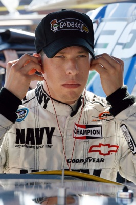 Brad Keselowski focuses in practice Friday at Texas Motor Speedway. A NASCAR Nationwide Series regular, Keselowski qualified 37th for Sunday's Dickies 500 as he'll make his NASCAR Sprint Cup Series debut. (Photo Credit: John Harrelson/Getty Images for NASCAR)