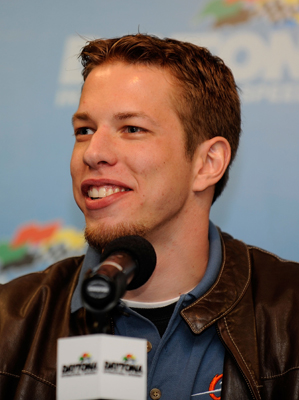 'I kind of relish the underdog role,' said NASCAR Sprint Cup and Nationwide Series driver Brad Keselowski during a news conference Saturday at the Preseason Thunder Fan Fest at Daytona International Speedway. 'It's inspiring to me. It drives me to prove that we can do it.' (Photo Credit: Rusty Jarrett/Getty Images for NASCAR