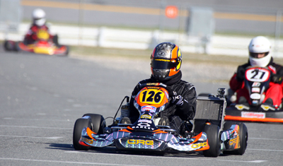 Jamie McMurray takes a spin in his kart during Daytona KartWeek By Cometic Gasket at Daytona International Speedway. (Photo Credit: Motorsports Images & Archives)