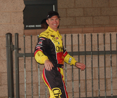 Clint Bowyer at the Auto Club Speedway on Sunday, February 22, 2009 (photo credit: Jameela Washington)