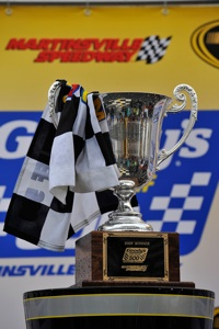Jimmie Johnson, driver of the No. 48 Lowe's Chevrolet, started ninth and earned his first win of the season after leading 42 laps during Sunday's NASCAR Sprint Cup Series event at Martinsville (Va.) Speedway. (Courtesy Hendrick Motorsports)
