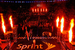 The NASCAR Sprint Pit Crew Challenge Presented by Craftsman gets under way with the Opening Ceremony Thursday at Time Warner Cable Arena in Charlotte, N.C. (Photo Credit: John Harrelson/Getty Images for NASCAR)