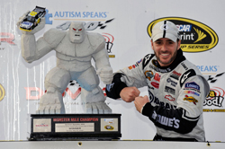 Jimmie Johnson led 298 laps in his No. 48 Kobalt Tools Chevrolet to win the 400-lap event on Sunday at Dover (Del.) International Speedway. (Courtesy Hendrick Motorsports)