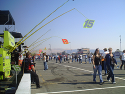 The pits at Infineon Raceway in 2008 (photo credit: The Fast and the Fabulous)
