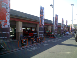 The garage on Saturday, August 22, 2009 at the Indy Grand Prix of Sonoma at Infineon Raceway (photo credit: The Fast and the Fabulous)