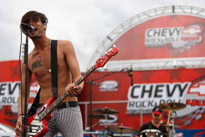 Double-platinum recording artists The All-American Rejects provided pre-race entertainment for the Chevy Rock & Roll 400 at Richmond International Raceway. (Photo Credit: Chris Graythen/Getty Images)