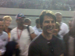 Tom Cruise on pit road before the start of the Chevy Rock & Roll 400 at Richmond International Raceway. (Photo Credit: Andrew Giangola)