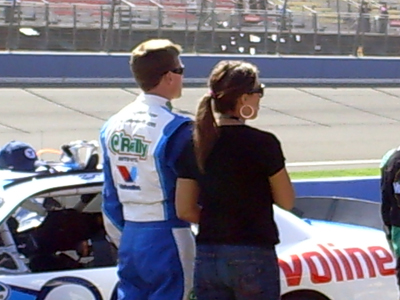 Carl Edwards and his wife, Kate, before the Copart 300 on Saturday, October 10, 2009 at Auto Club Speedway in Fontana, CA (photo credit: The Fast and the Fabulous)