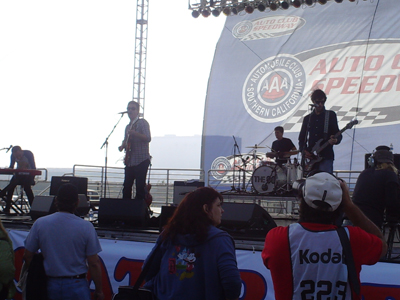 The 88 performed on Saturday, October 10, 2009 at Auto Club Speedway in Fontana, CA (photo credit: The Fast and the Fabulous)