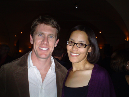 Carl Edwards with The Fast and the Fabulous writer Valli Hilaire (photo credit: The Fast and the Fabulous)