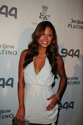 Actress/TV personality Vanessa Minillo attends the Hotel 944 Party sponsored by Jose Cuervo and GUINNESS at Eden Roc Renaissance Miami Beach on February 04, 2010 in Miami Beach, Florida. (Photo by: Vallery Jean /Getty for Jose Cuervo)