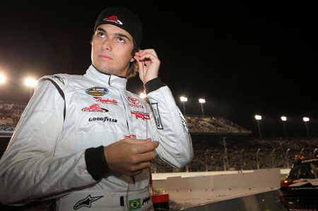 Nelson Piquet Jr. prepares for his NASCAR Camping World Truck Series debut Saturday at Daytona International Speedway. Piquet finished sixth in his first series start. (Credit: Jonathan Ferrey/Getty Images for NASCAR)