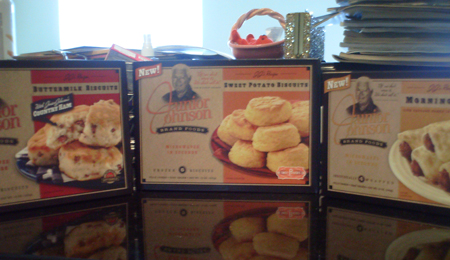 Junior Johnson Brand Foods -- Country Ham Biscuits, Sweet Potato Biscuits and Sausage Morning Rolls