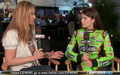 Nicole Briscoe and Danica Patrick (ESPN)