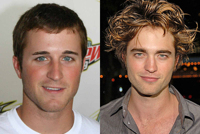 Kasey Kahne (left) and Robert Pattinson (right)