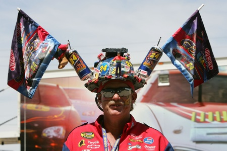 A Jeff Gordon superfan shows his allegiance before the start of the Subway Fresh Fit 600 at Phoenix International Raceway.(Credit: Jerry Markland/Getty Images for NASCAR)