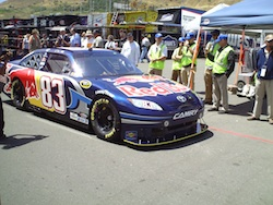 No. 83 Red Bull Toyota at Infineon Raceway on Friday, June 18, 2010 (photo credit: The Fast and the Fabulous)