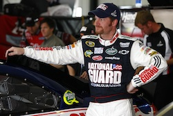 Dale Earnhardt Jr., driver of the No. 88 National Guard/AMP Energy Chevrolet, started third in the June 6th NASCAR Sprint Cup Series event at Pocono Raceway (Courtesy Hendrick Motorsports).
