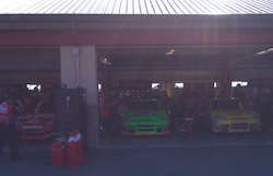 Cars lined up before the start of practice on Saturday, June 19, 2010 at Infineon Raceway (photo credit: The Fast and the Fabulous)