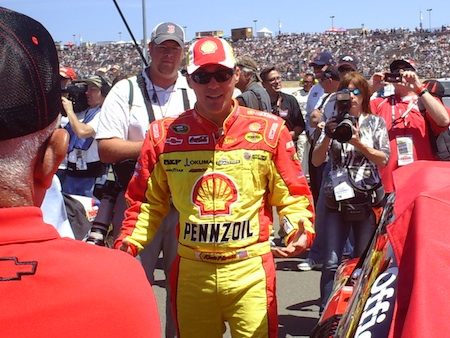 Kevin Harvick and Nelson Stewart, Tony's dad