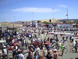 Fans at Infineon Raceway before the start of the Toyota/SaveMart 350 on Sunday, June 20, 2010 (photo credit: The Fast and the Fabulous)