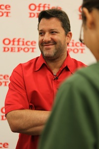 Tony Stewart answers my questions on Friday, May 28th, 2010 (photo credit: Seth Gregory)