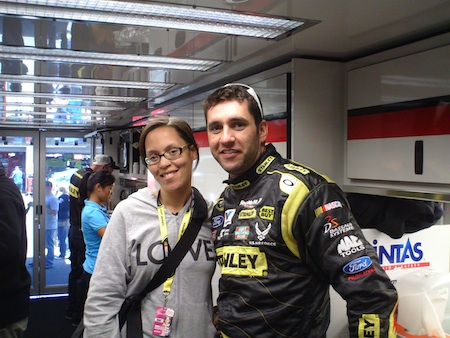 Valli from The Fast and the Fabulous and Elliott Sadler