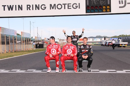 Scott Dixon, Dario Franchitti, Will Power and Helio Castroneves