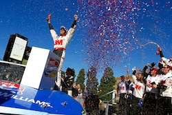 No. 16 3M Ford driver Greg Biffle celebrates in Victory Lane after earning his second win of the 2010 season and 16th of his NASCAR Sprint Cup Series career. (Credit: Jason Smith/Getty Images for NASCAR)