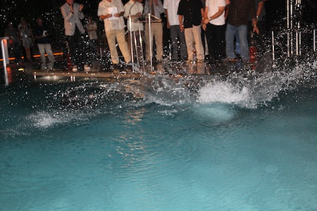 Tony Kanaan Throws Dario Franchitti into the Pool: A Photo Series